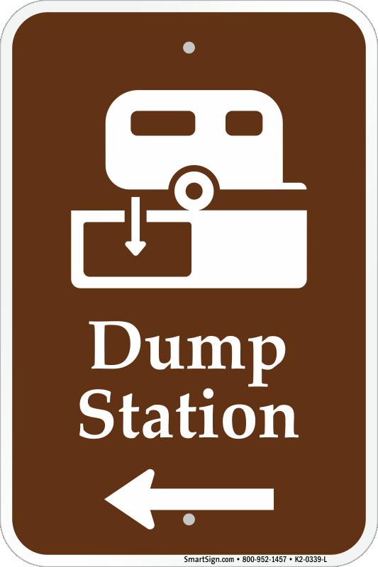 dump-station-with-left-arrow-sign-k2-033