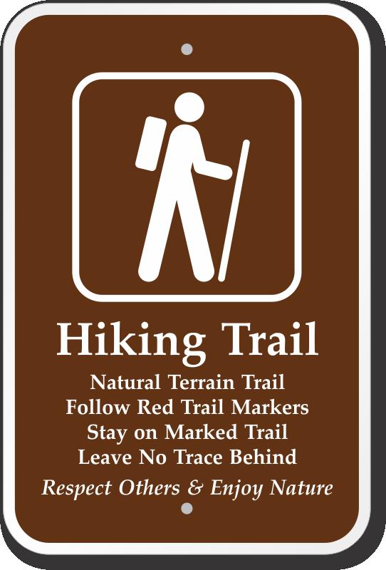 Trail Signs, Hiking Signs, Hiking Trail Symbols & Trail ...