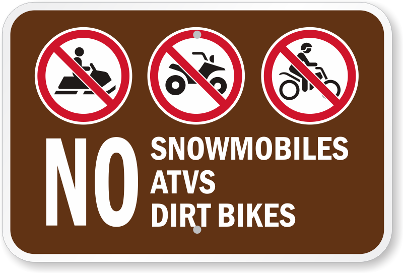 Image result for no ATV logo