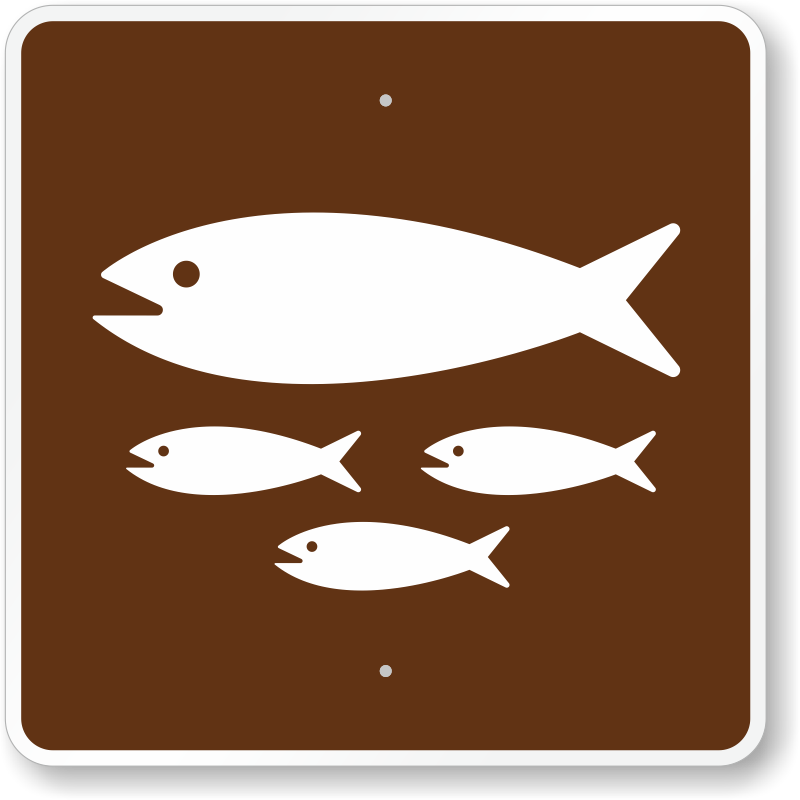 Fish hatchery mutcd guide sign for campground sku x rs 010 for Www plenty of fish sign in