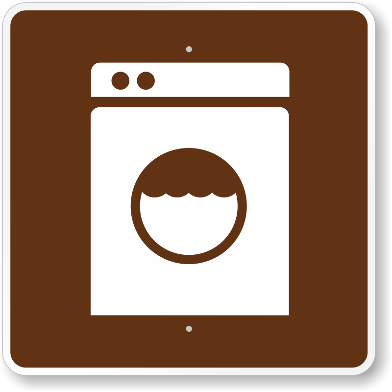 Laundromat, MUTCD Guide Sign For Campground, SKU: X-RS-085