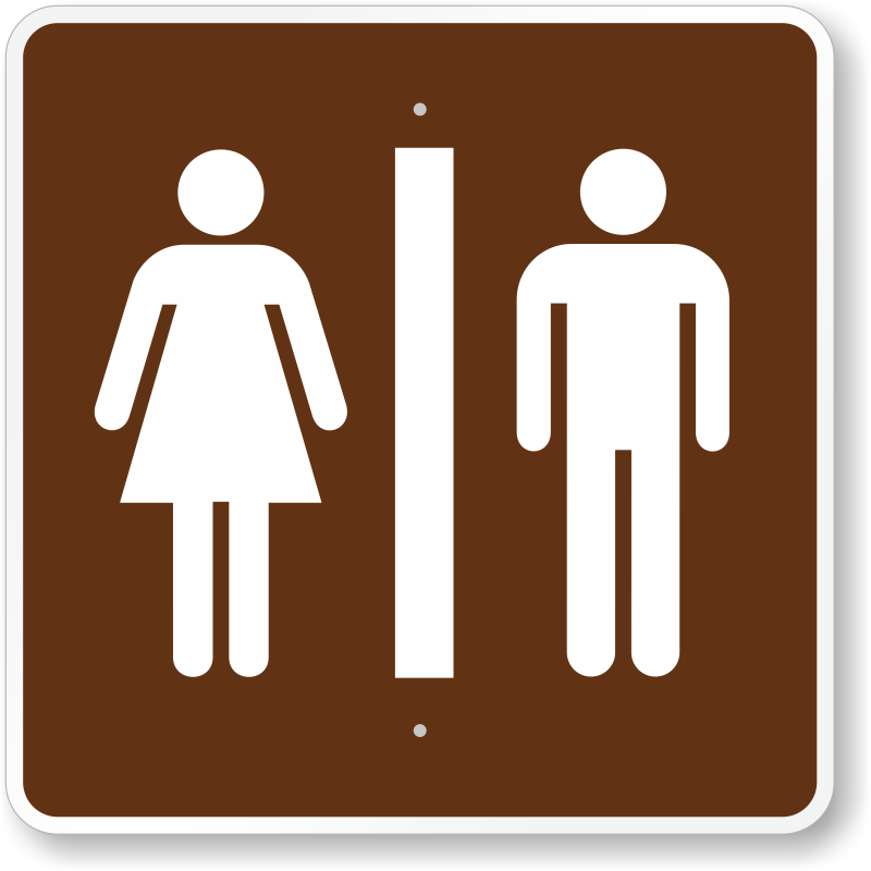 Bathroom Symbol Bathroom Signs For Parks
