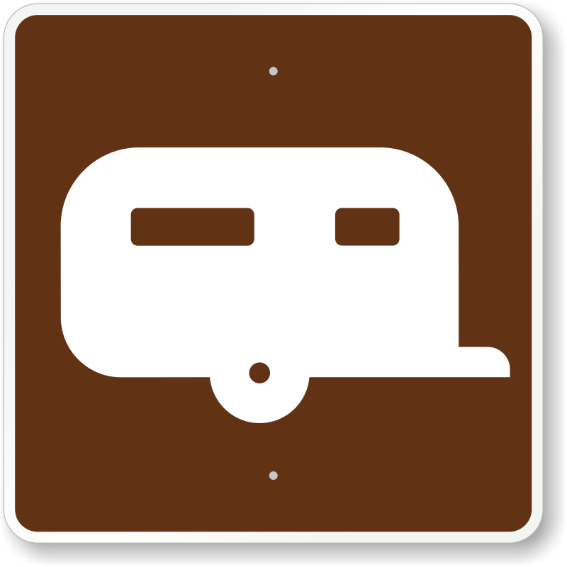 Trailer Site, MUTCD Guide Sign for Campground