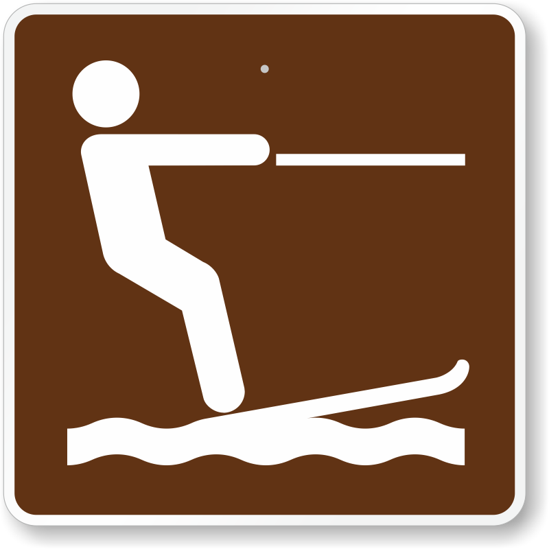 Water-skiing, MUTCD Guide Sign For Campground, SKU: X-RS-058