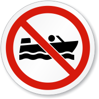 No Row Boating ISO Sign