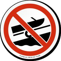 No Boat Trailer Graphic Sign