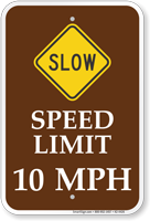 10 MPH Sped Limit Sign