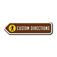 Add Your Custom Direction Left Arrow Sign