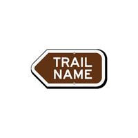 Add Your Custom Trail Name Left Arrow Sign