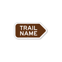 Add Your Custom Trail Name Right Arrow Sign