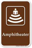 Amphitheater - Campground, Guide & Park Sign