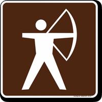 Archer Symbol Sign For Campsite