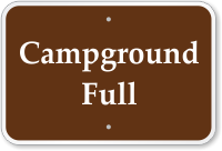 Campground Full Campground Sign
