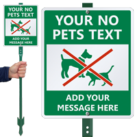 Custom No Pet Sign