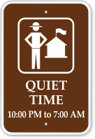 Customizable Quiet Time Ranger Station Campground Sign