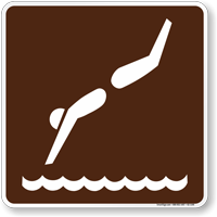 Diving Symbol Sign For Campsite