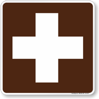 First Aid Symbol Sign For Campsite