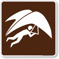 Hang Glider Symbol Sign For Campsite