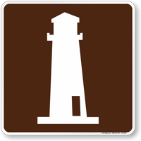 Lighthouse Symbol Sign For Campsite