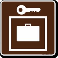 Locker Symbol Sign For Campsite