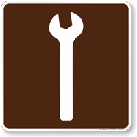 Mechanic Symbol Sign For Campsite