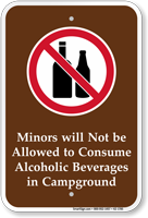 Minors Not Allowed To Consume Alcohol Sign