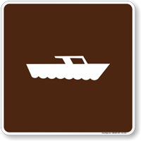 Motor Boating Symbol Sign For Campsite