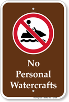 No Personal Watercrafts Marine Sign