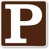 Parking Symbol Sign For Campsite