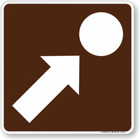 Point Of Interest Symbol Sign For Campsite