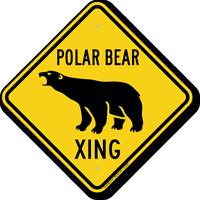 Polar Bear Xing Animal Crossing Sign