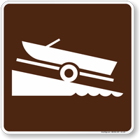 Ramp (Launch) Symbol Sign For Campsite