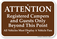 Registered Campers And Guests Only Campground Sign