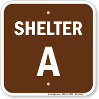 Shelter A Evacuation Assembly Area Sign