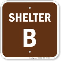 Shelter B Evacuation Assembly Area Sign