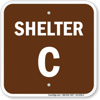 Shelter C Evacuation Assembly Area Sign