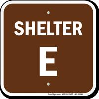 Shelter E Evacuation Assembly Area Sign
