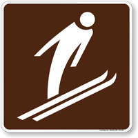 Ski Jumping Symbol Sign For Campsite