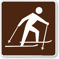 Skiing (Cross Country) Symbol Sign For Campsite