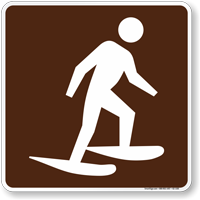 Snowshoeing Symbol Sign For Campsite