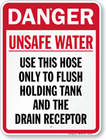 Unsafe Water Danger Sign