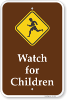 Watch For Children Campground Sign