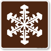Winter Recreation Area Symbol Sign For Campsite