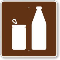 Cans or Bottles, MUTCD Campground Guide Sign
