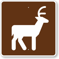 Deer Viewing Area, MUTCD Campground Guide Sign