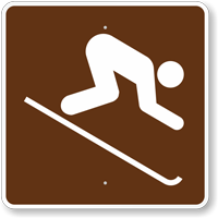 Downhill Skiing, MUTCD Guide Sign for Campground