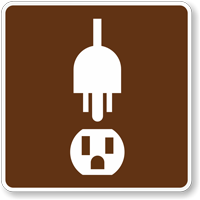 Electrical Hook-Up, MUTCD Guide Sign for Campground