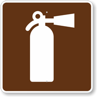 Fire Extinguisher, MUTCD Guide Sign for Campground