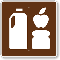 Grocery Store, MUTCD Guide Sign for Campground