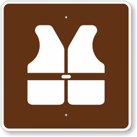 Lifejackets, MUTCD Guide Sign for Campground